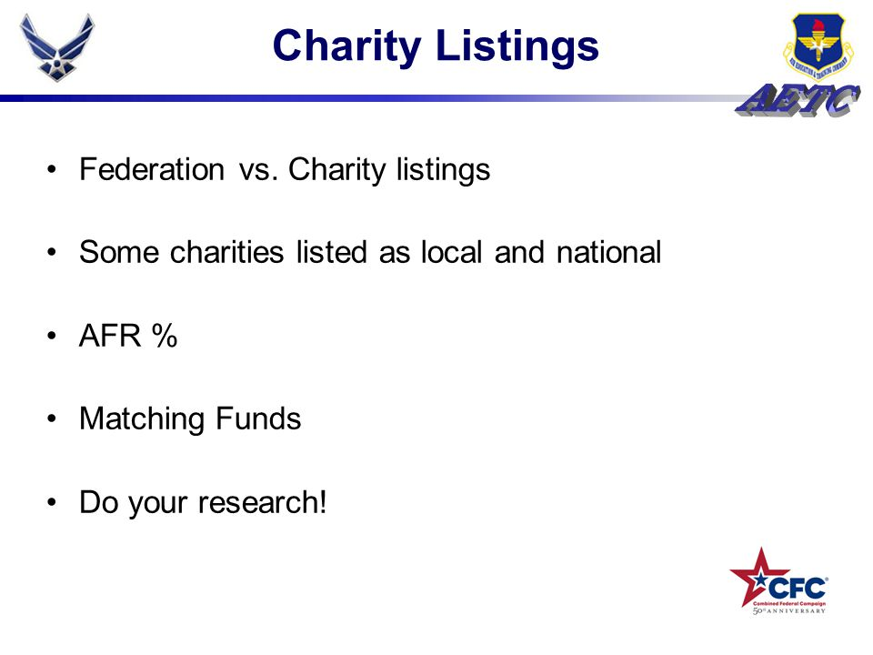 Charity Listings Federation vs.