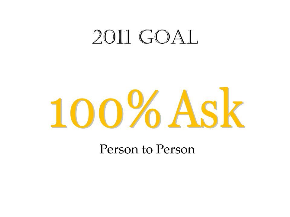 2011 Goal Person to Person
