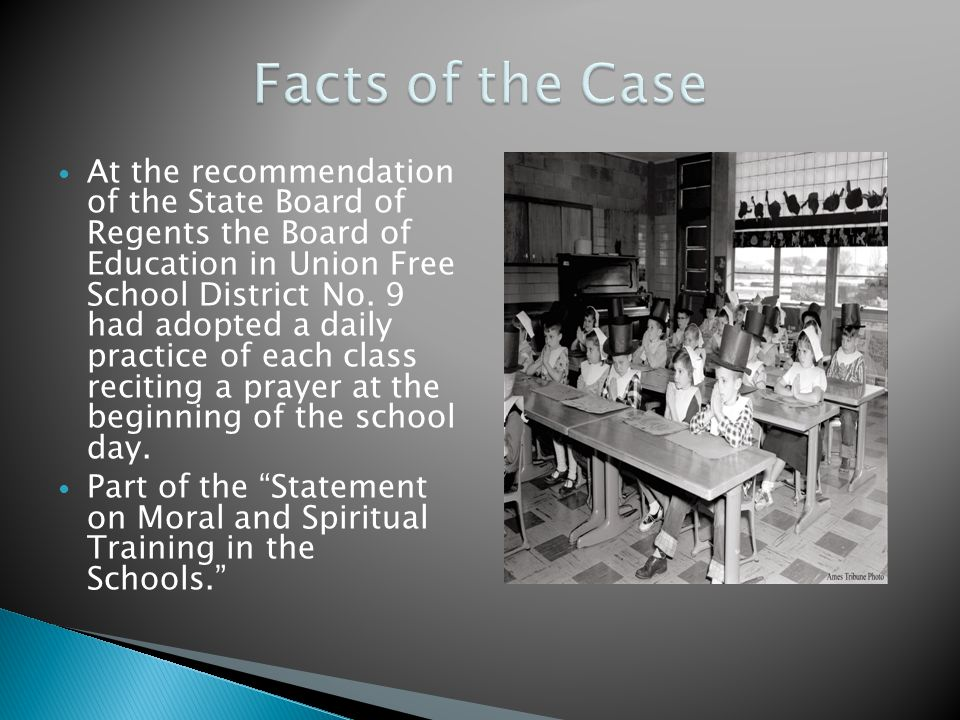 At the recommendation of the State Board of Regents the Board of Education in Union Free School District No. 9 had adopted a daily practice of each cl