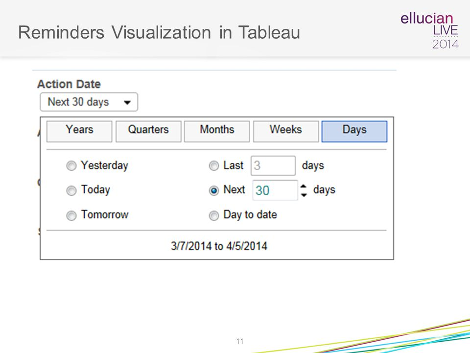 Reminders Visualization in Tableau 11