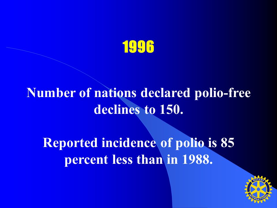 As long as polio threatens even one child anywhere in the world, all children – wherever they live – remain at risk.