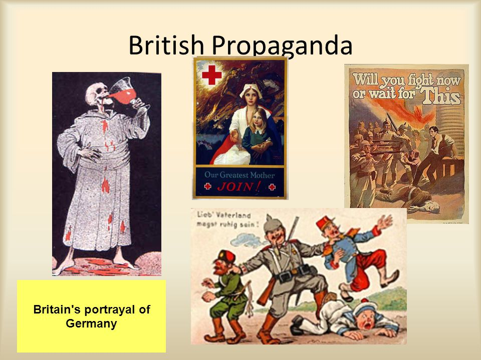British Propaganda Britain's portrayal of Germany