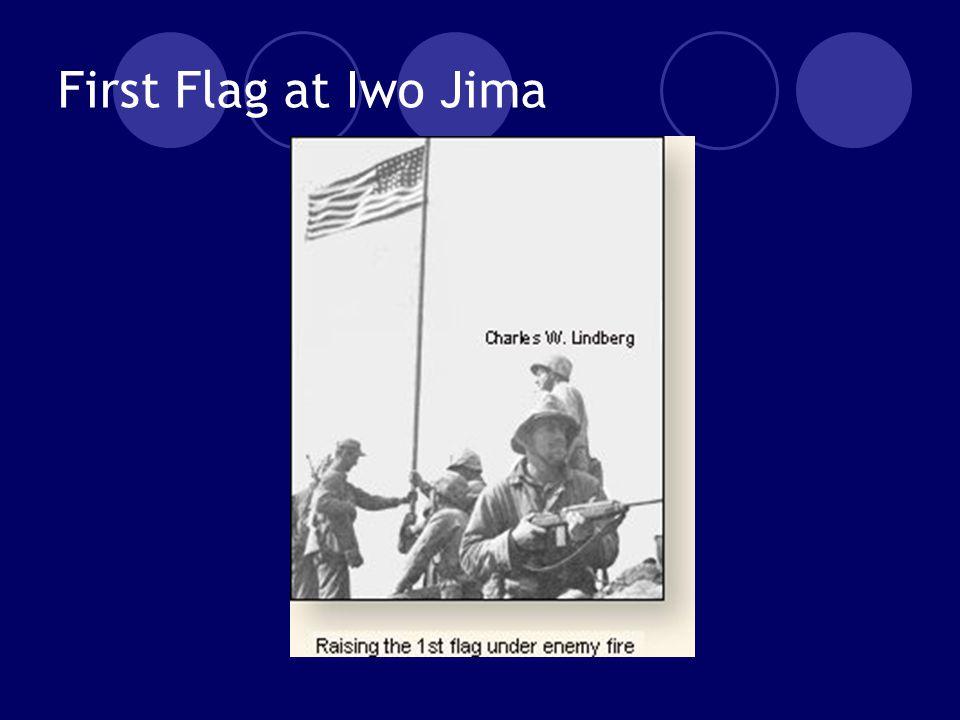 First Flag at Iwo Jima