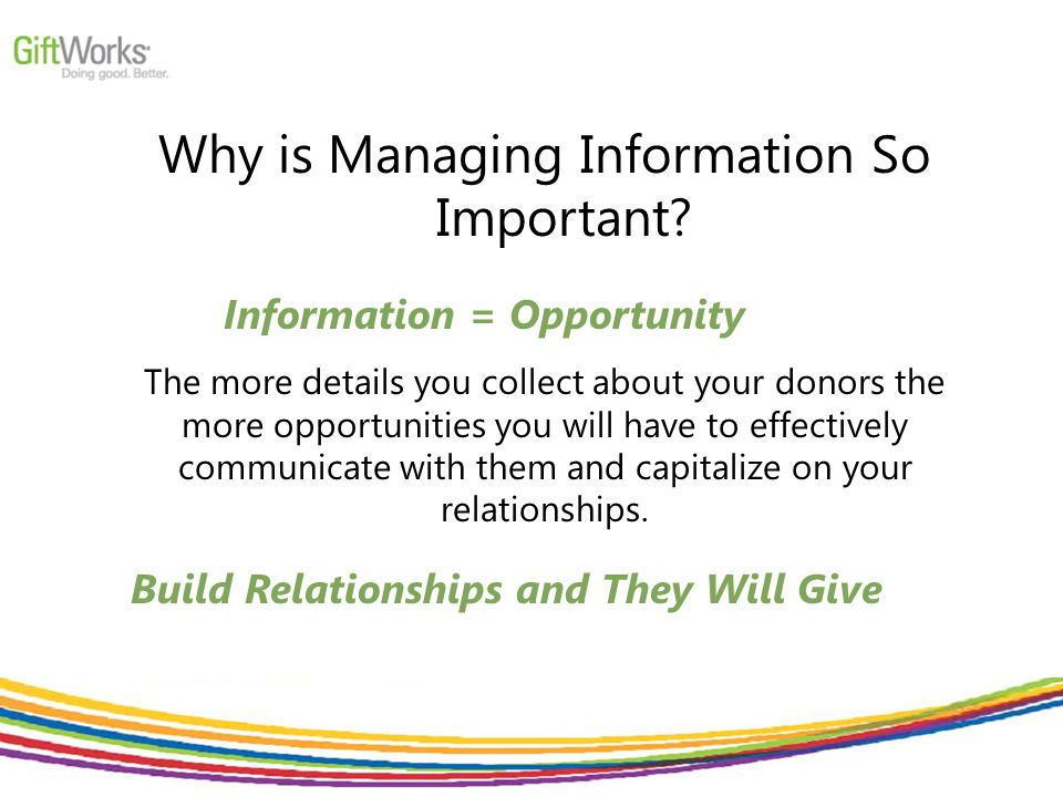 Why is Managing Information So Important.