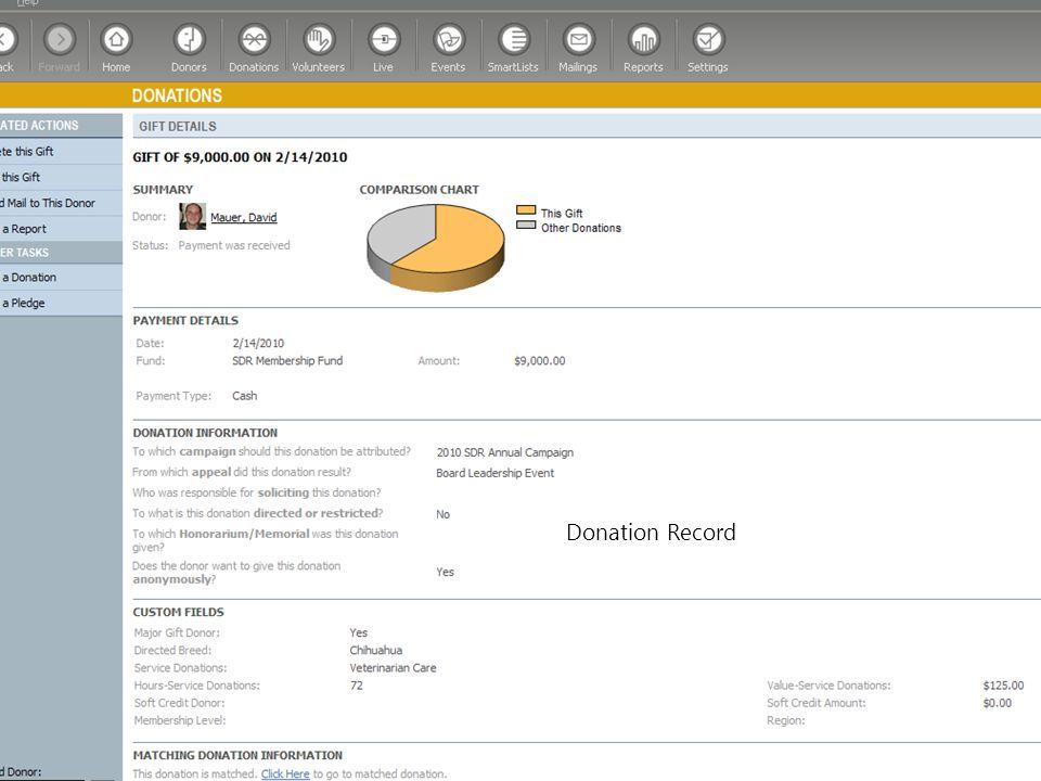 Donation Record