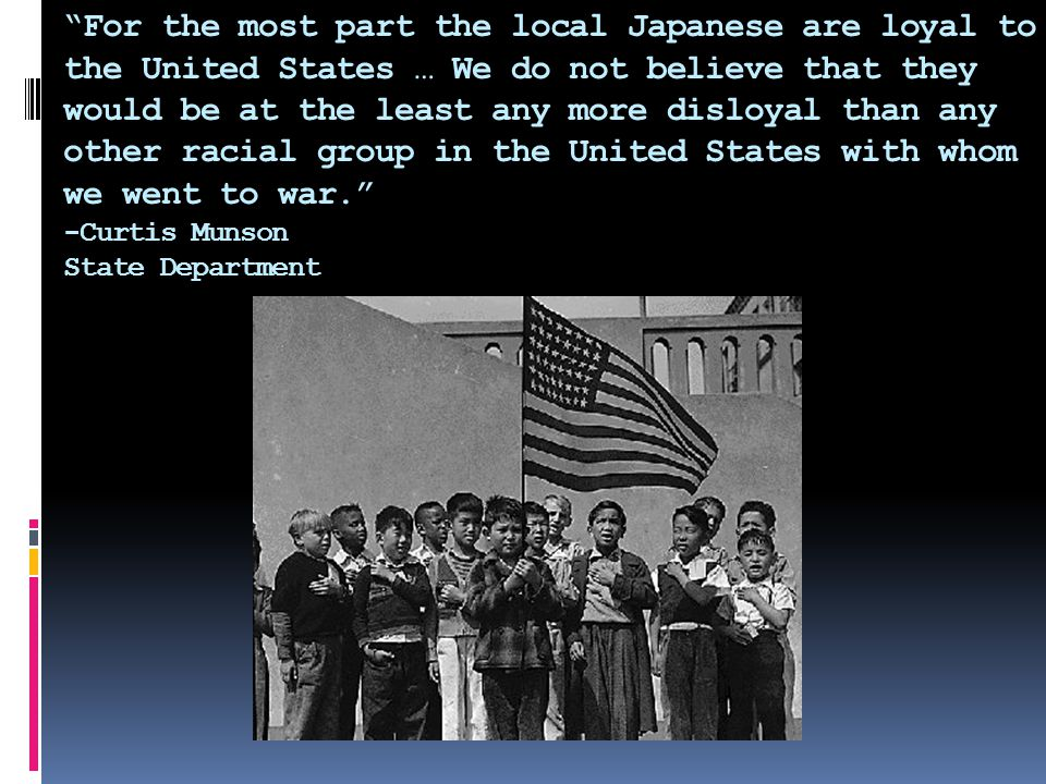  Government placed restrictions on Japanese Americans and their movements  Executive Order 9066 allowed the military to intern anyone they felt necessary  Lieutenant General John L.