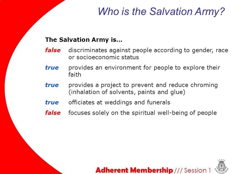 Adherent Membership Adherent Membership /// Session 2 Articles of Faith We believe that in the person of Jesus Christ the Divine and human natures are united, so that He is truly and properly God and truly and properly man.
