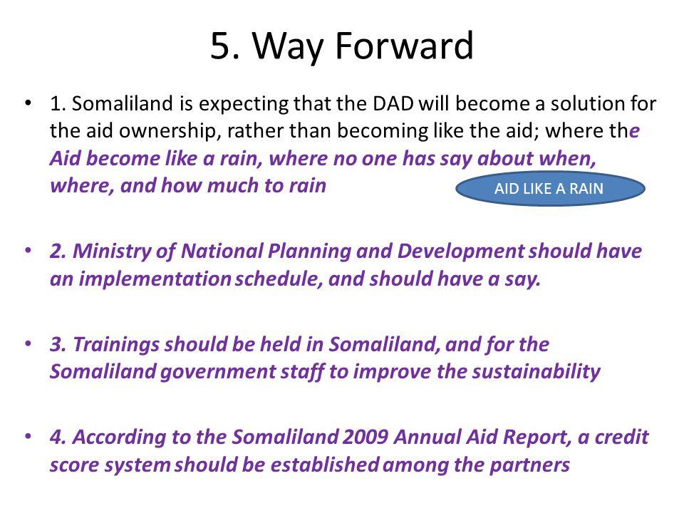 5. Way Forward 1.