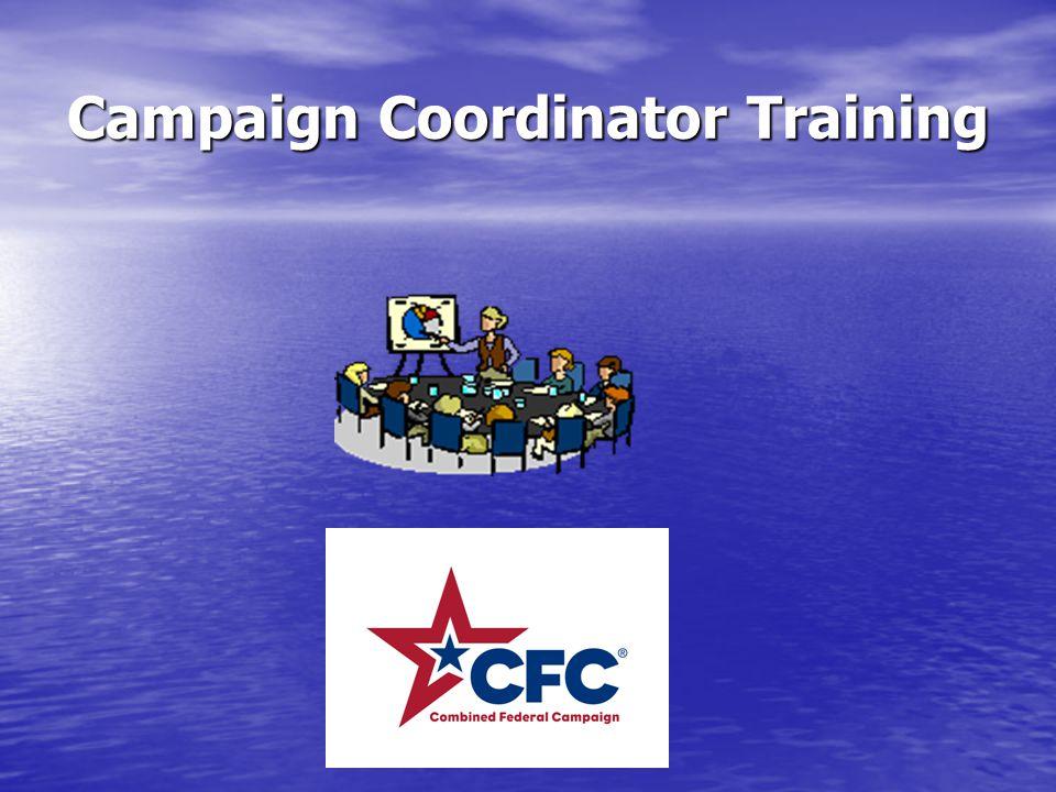 Campaign Coordinator Training