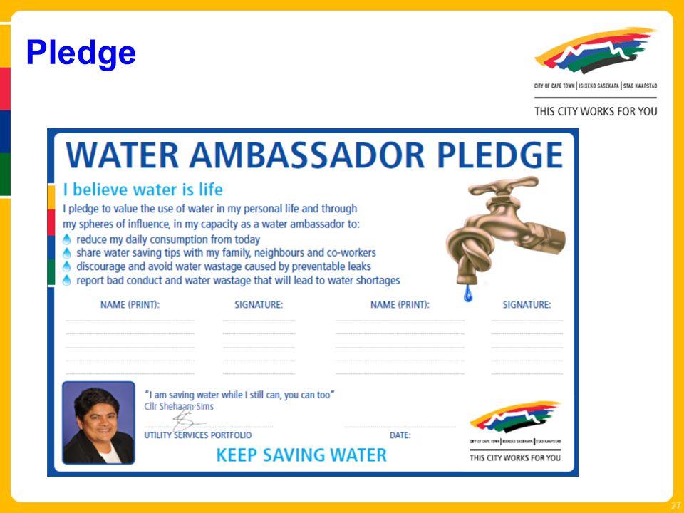 27 Pledge