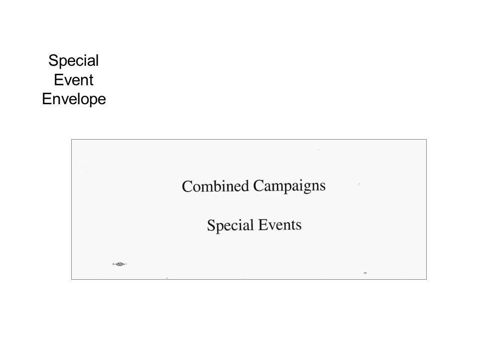 Special Event Envelope
