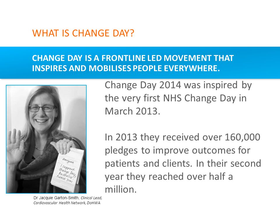 CHANGE DAY IS A FRONTLINE LED MOVEMENT THAT INSPIRES AND MOBILISES PEOPLE EVERYWHERE.