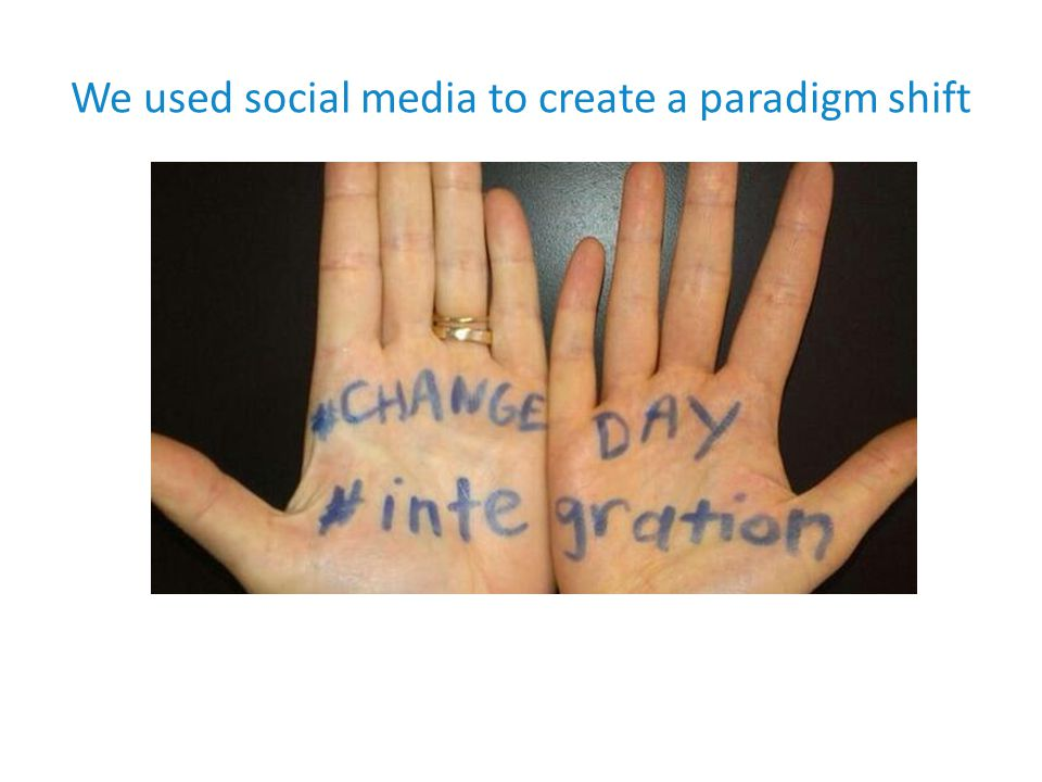 We used social media to create a paradigm shift