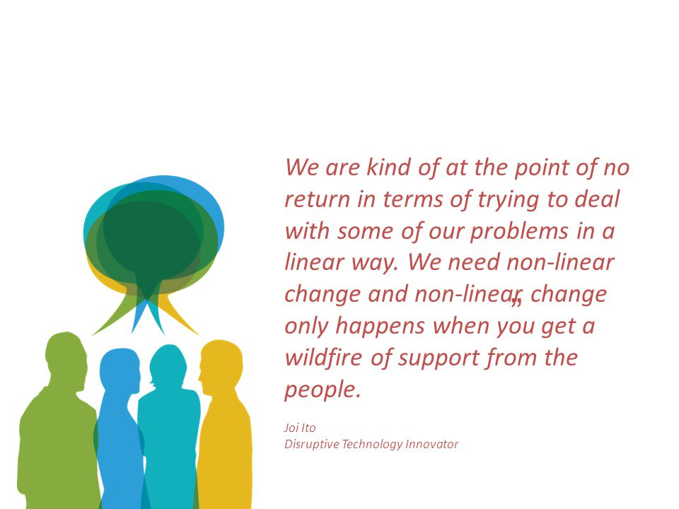 We are kind of at the point of no return in terms of trying to deal with some of our problems in a linear way.