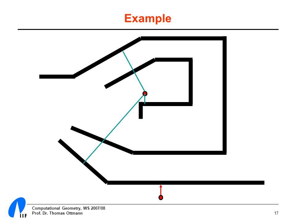Computational Geometry, WS 2007/08 Prof. Dr. Thomas Ottmann17 Example