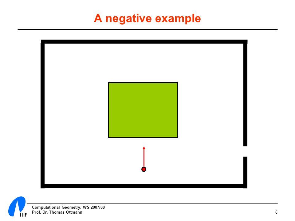 Computational Geometry, WS 2007/08 Prof. Dr. Thomas Ottmann6 A negative example