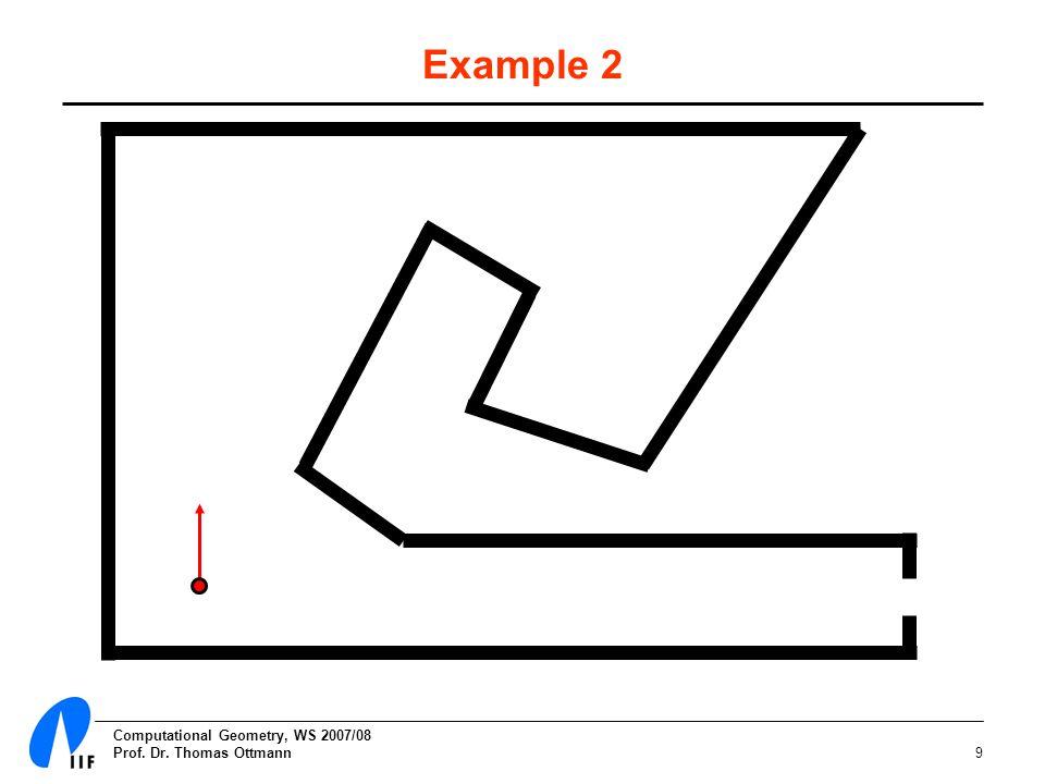 Computational Geometry, WS 2007/08 Prof. Dr. Thomas Ottmann9 Example 2