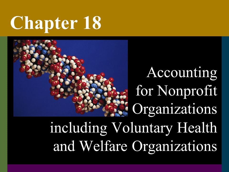 Chapter 18 including Voluntary Health and Welfare Organizations Accounting for Nonprofit Organizations