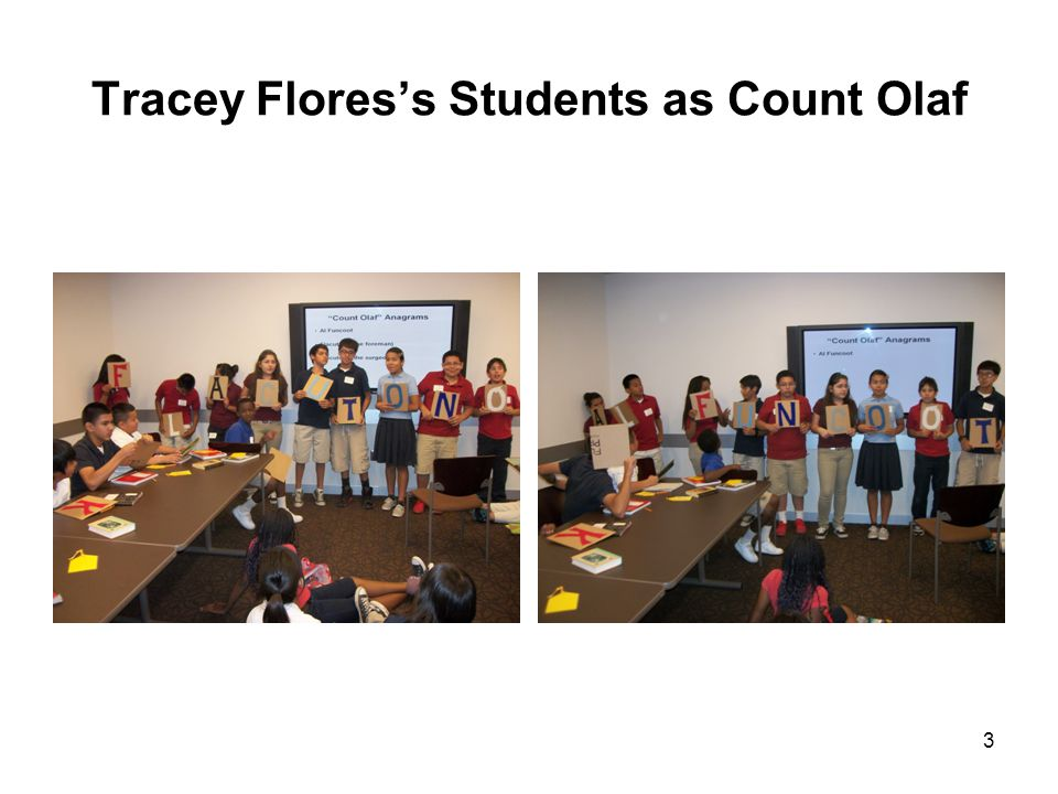 Tracey Flores's Students as Count Olaf 3