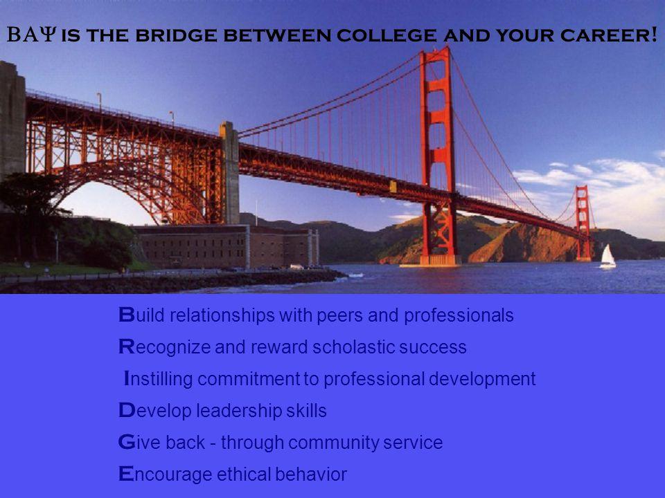  is the bridge between college and your career.