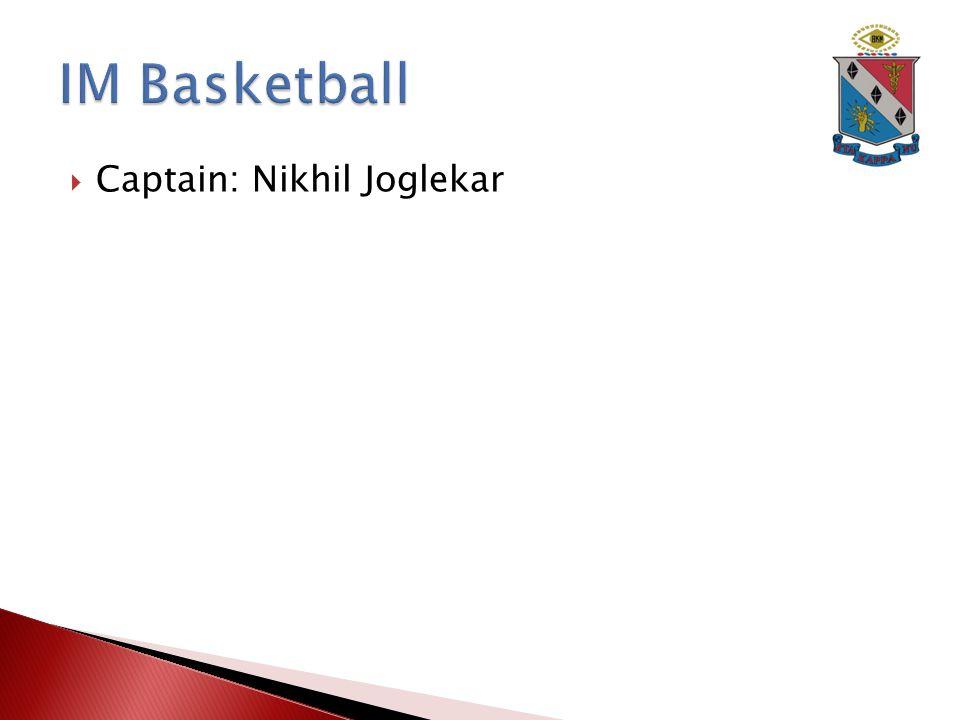  Captain: Nikhil Joglekar