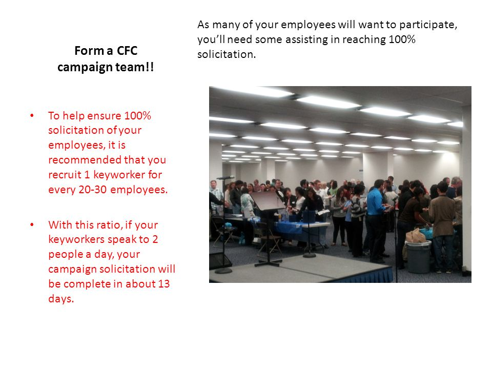 Form a CFC campaign team!.