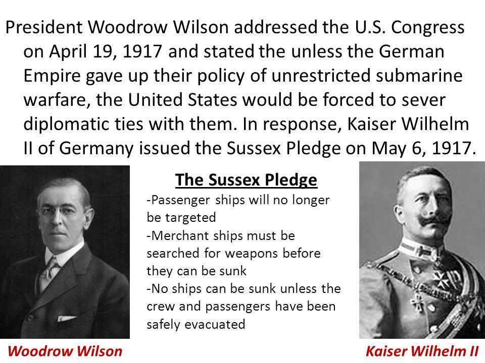 President Woodrow Wilson addressed the U.S.