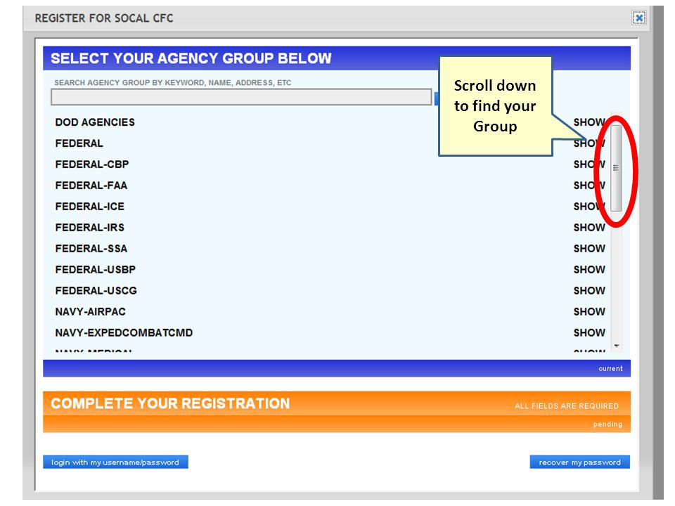 Add allocation amount to charity organization Click Go To Next Step