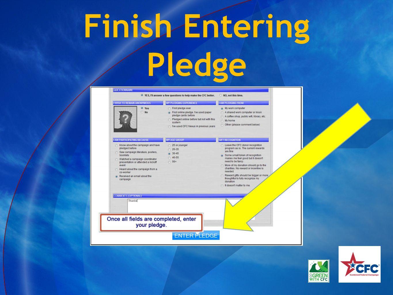 Finish Entering Pledge