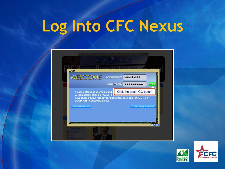 Log Into CFC Nexus