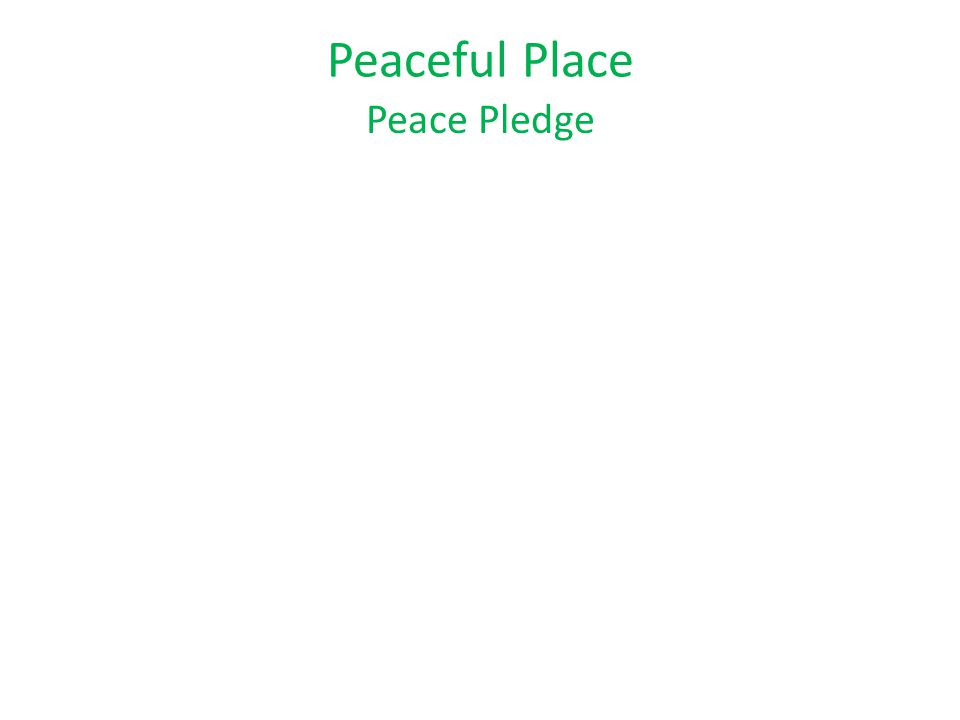 Peace Pledge