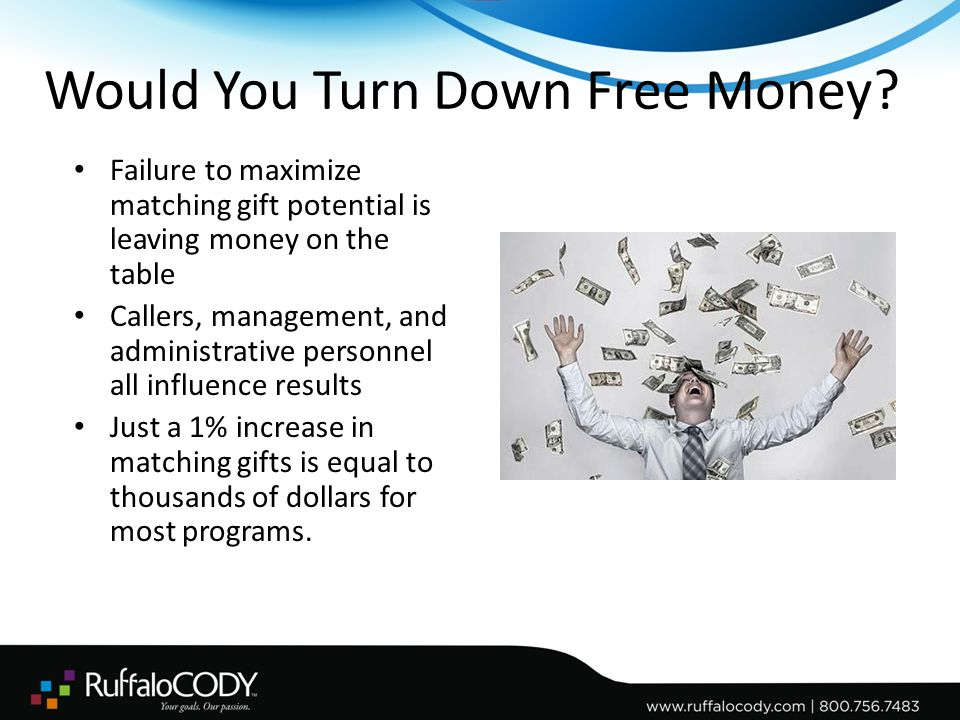 Would You Turn Down Free Money.