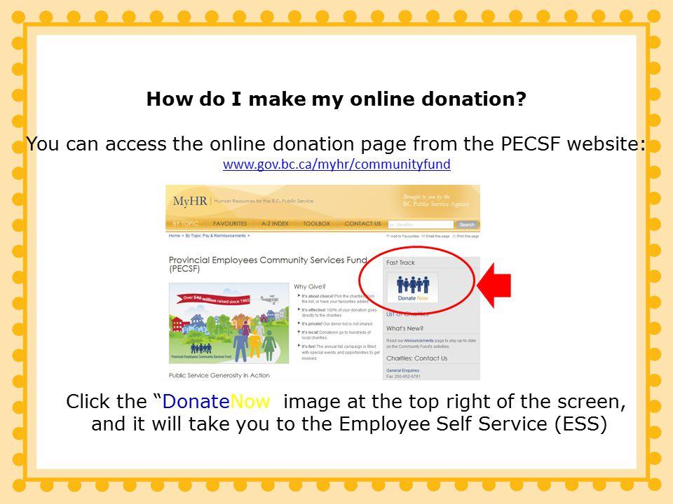 How do I make my online donation.