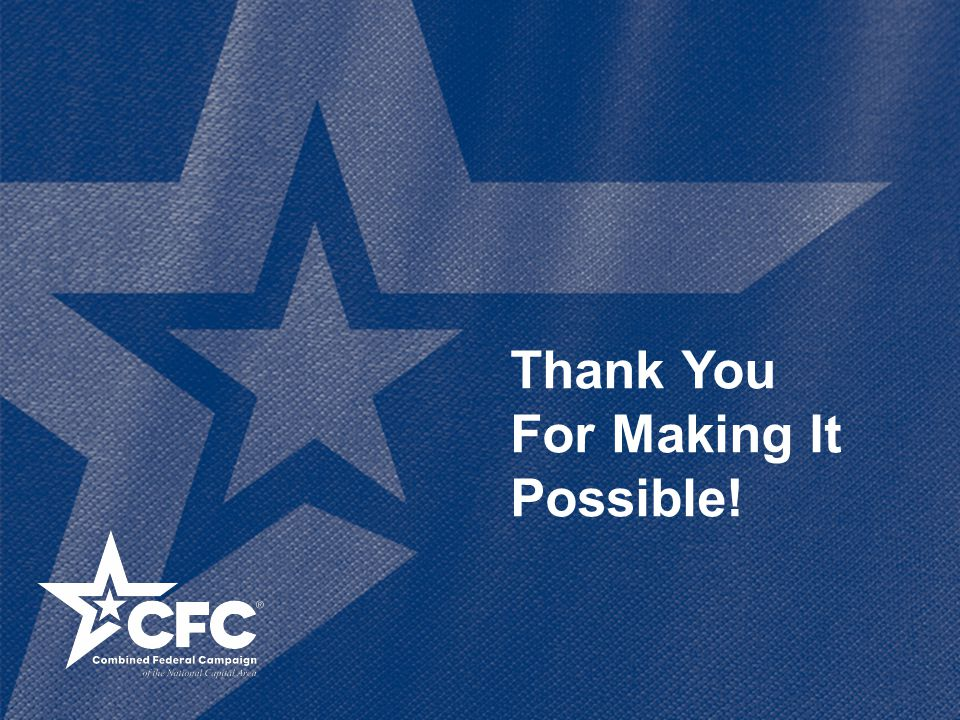 Thank You For Making It Possible!