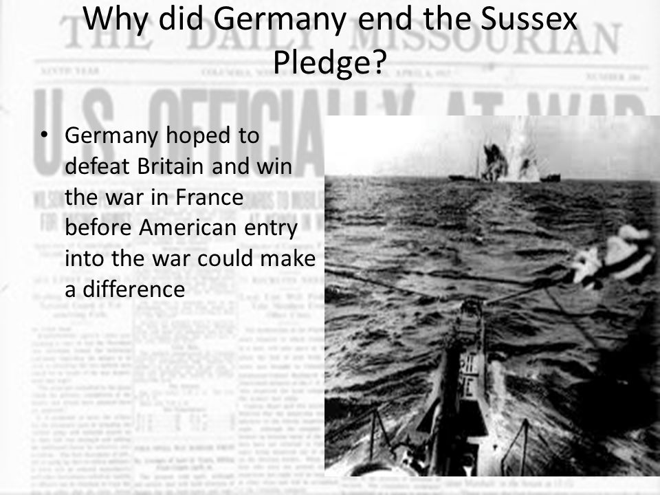 Why did Germany's use of U-boats lead to conflict with the United States.