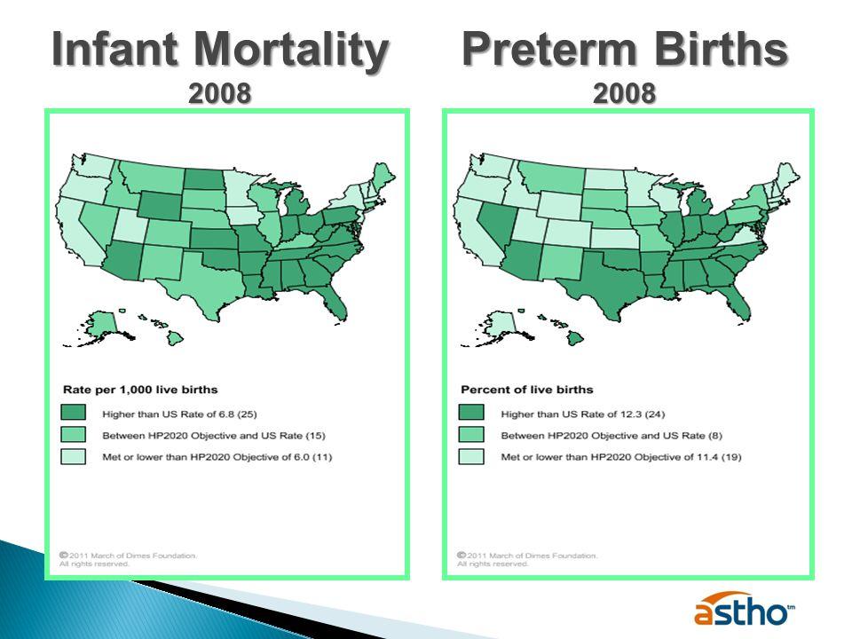 Infant Mortality 2008 Preterm Births 2008