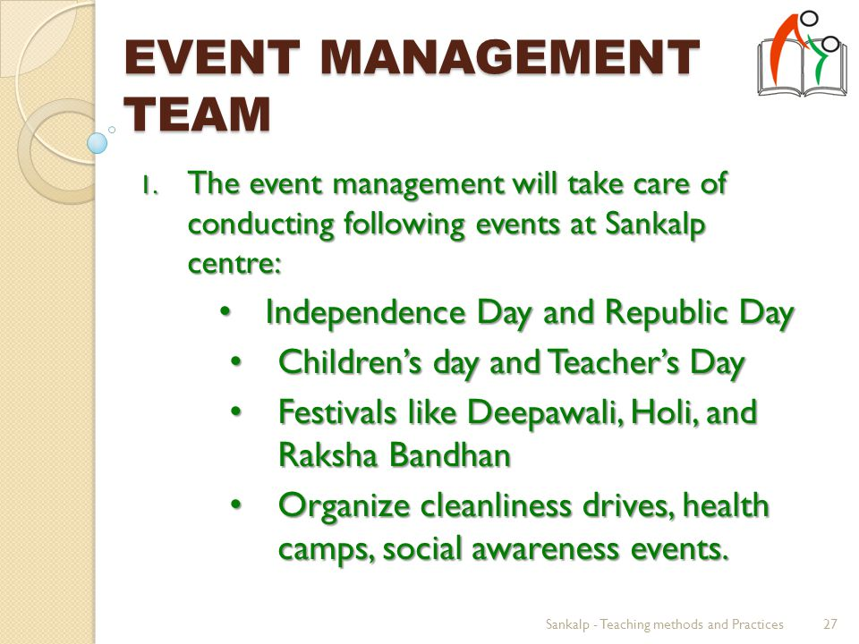 EVENT MANAGEMENT TEAM 1.