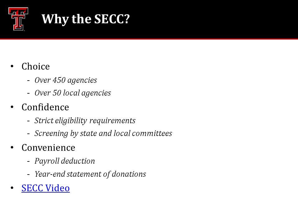 Why the SECC.