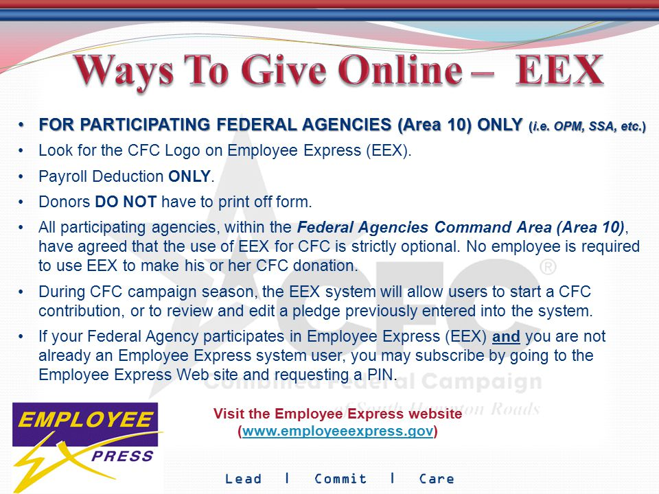 FOR PARTICIPATING FEDERAL AGENCIES (Area 10) ONLY (i.e. OPM, SSA, etc.)FOR PARTICIPATING FEDERAL AGENCIES (Area 10) ONLY (i.e. OPM, SSA, etc.) Look fo