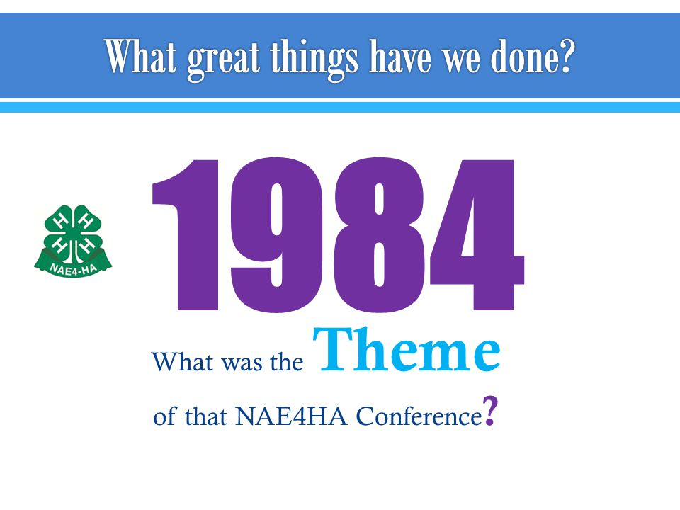 1984 What was the Theme of that NAE4HA Conference ?