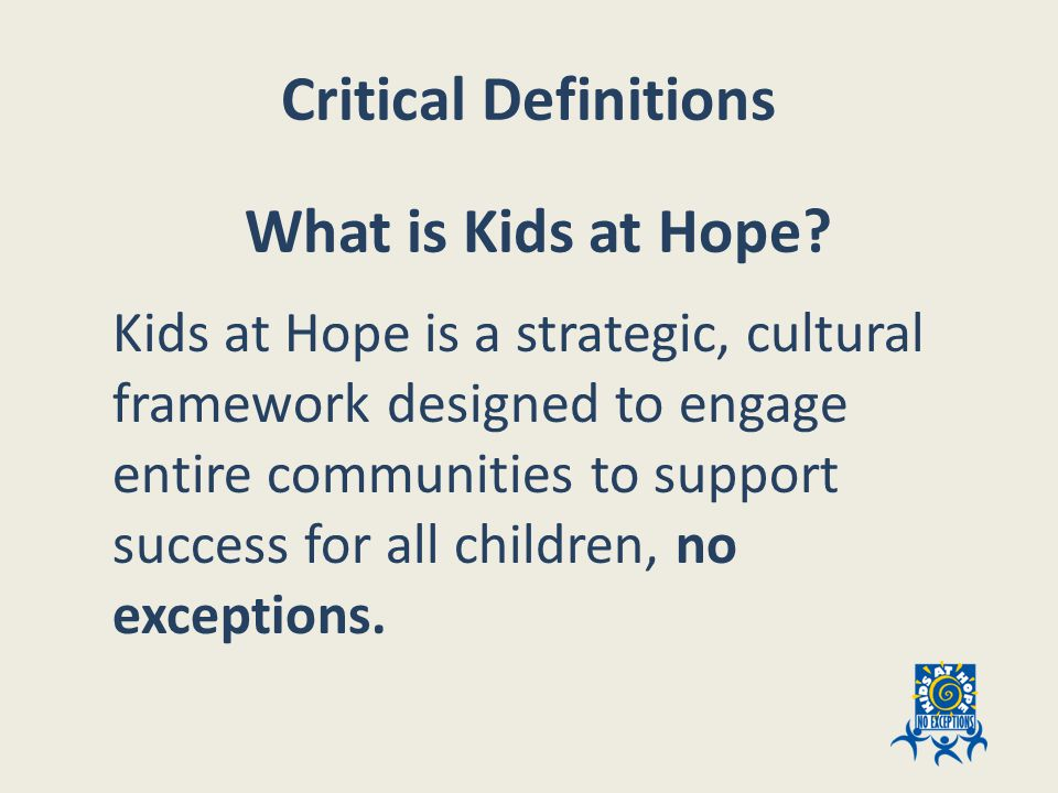 Anchor / Parent  Other Caring Adults  High Expectations  Opportunities for Success ACES