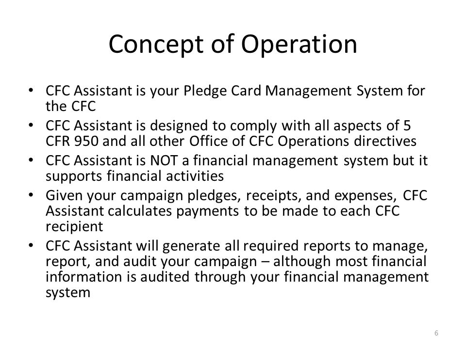 User Interface Design All activities begin with a basic CFC concept: – Batches, Pledges, Employers, Disbursements, etc.
