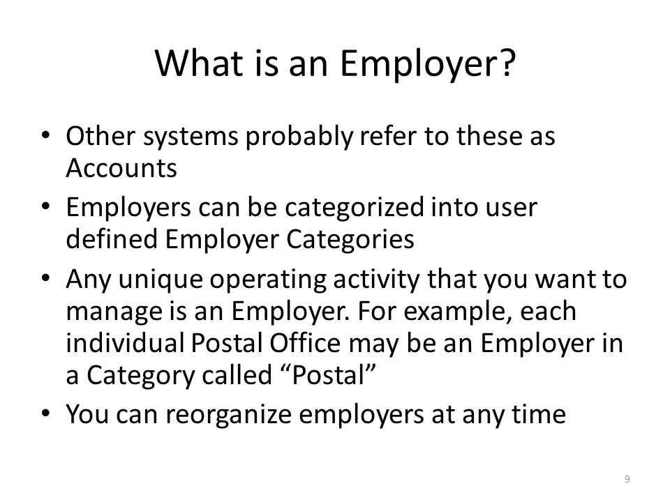 What is an Employer.