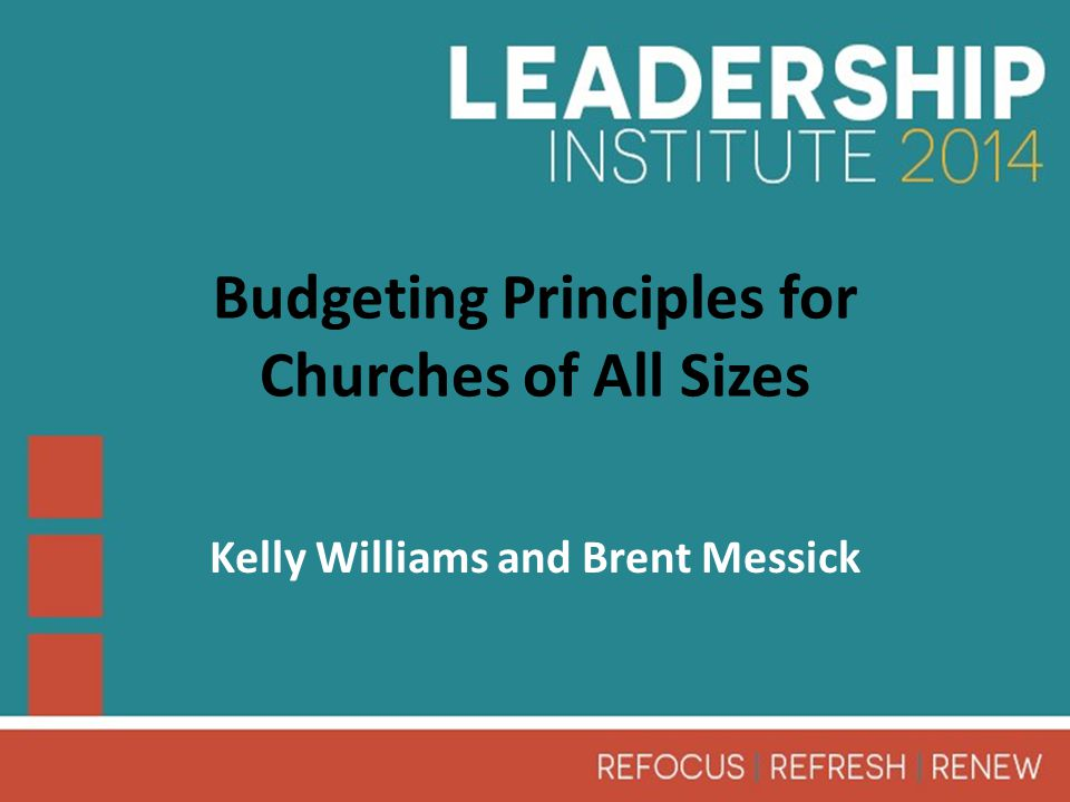10.Recommendations Budgeting process for churches of all sizes.