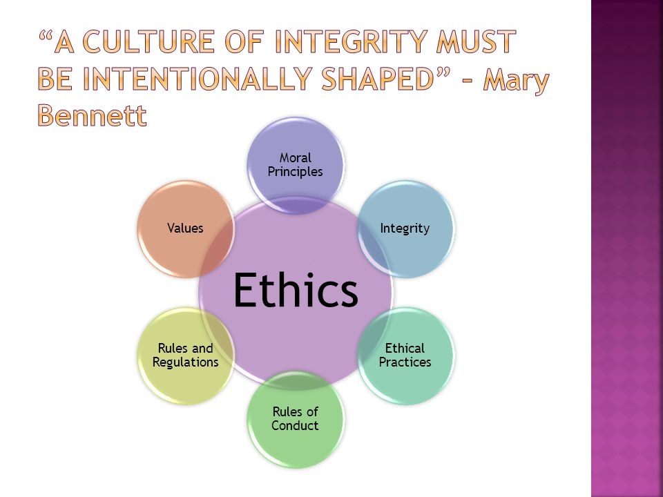 Ethics Moral Principles Integrity Ethical Practices Rules of Conduct Rules and Regulations Values