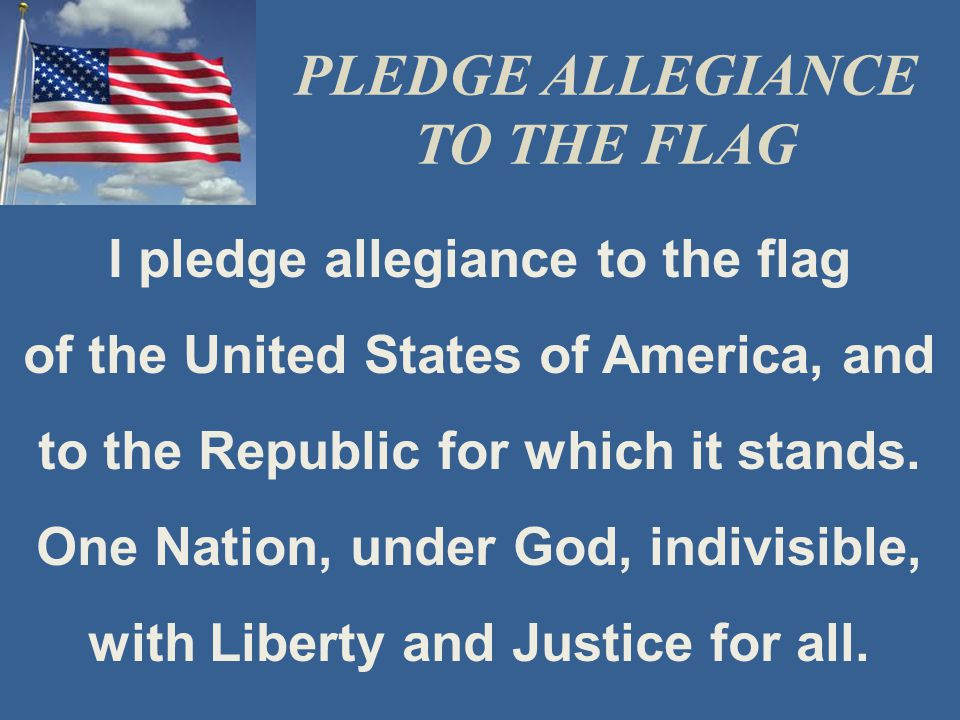 I pledge allegiance to the Christian Flag and to the Savior for whose kingdom it stands.