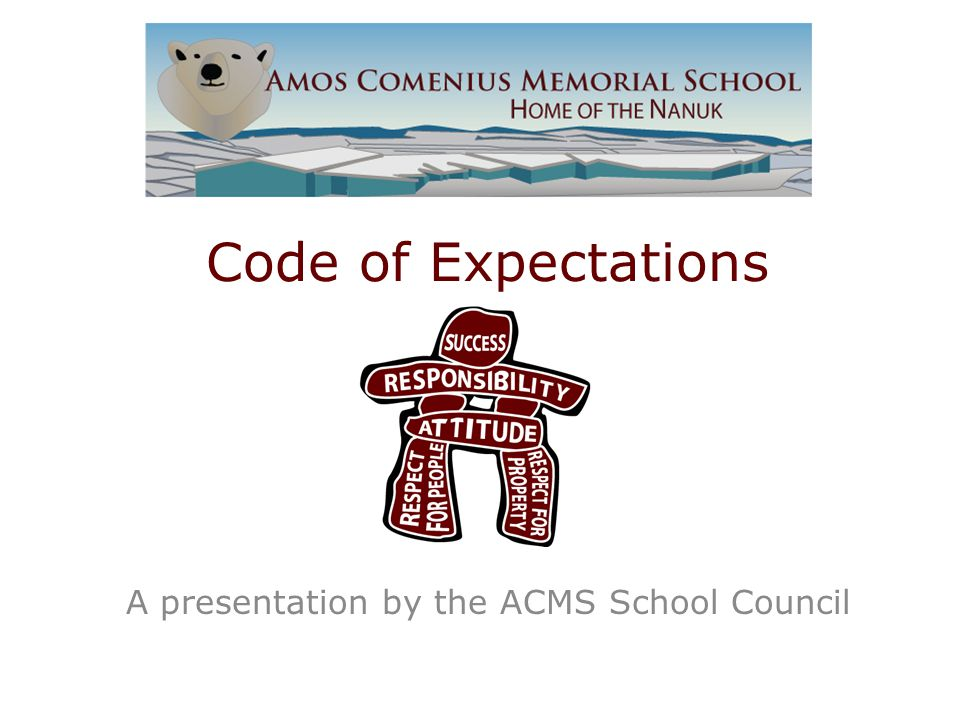 Code of Expectations A presentation by the ACMS School Council
