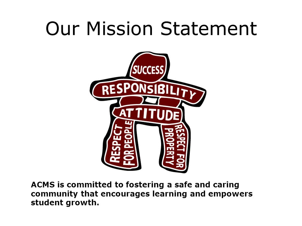 Our Mission Statement ACMS is committed to fostering a safe and caring community that encourages learning and empowers student growth.