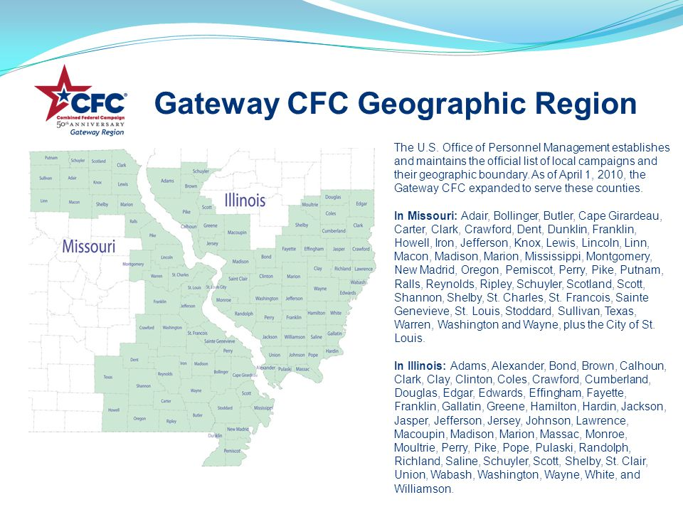 Gateway CFC Geographic Region The U.S.