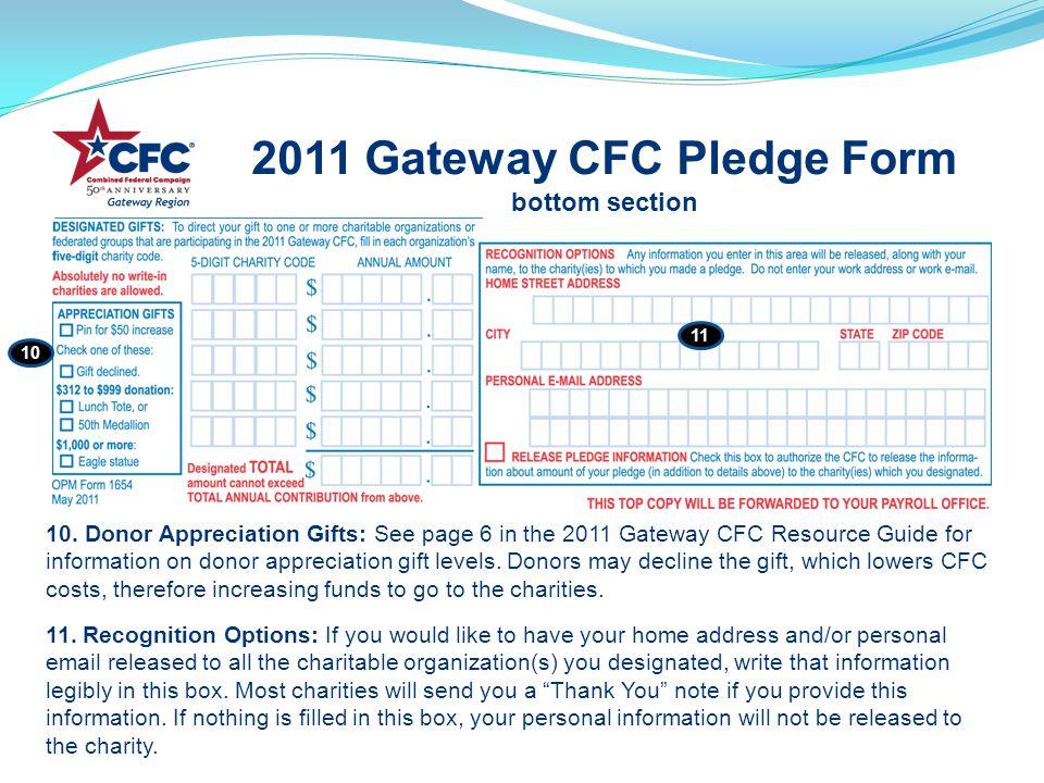 2011 Gateway CFC Pledge Form bottom section 10.